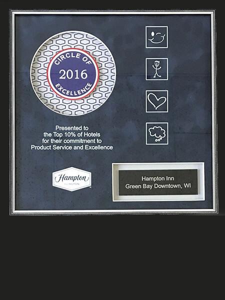 2016 Circle of Excellence Hampton Inn, Green Bay