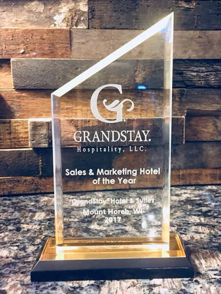 2017 Grandstay Mount Horeb Sales and Marketing Hotel of the Year