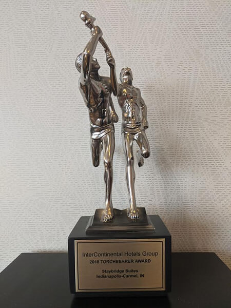 Staybridge Suites Carmel- 2018 Torchbearer Award